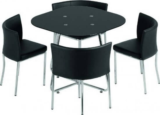 Square Table With 4 Hideaway Chairs