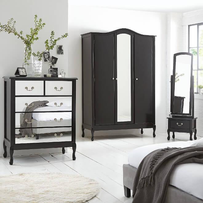 Elysee Bedroom Range The Furniture Co : elysee wardrobe and tall mirror from thefurnitureco.uk size 660 x 660 jpeg 49kB